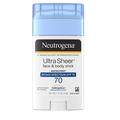 Neutrogena   Ultra Sheer Face Stick SPF 70 - 1.5 Oz
