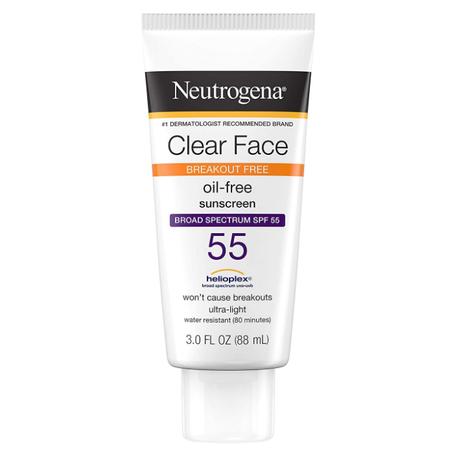 Neutrogena  Clear Face Sunscreen SPF 55- 3 Fl Oz