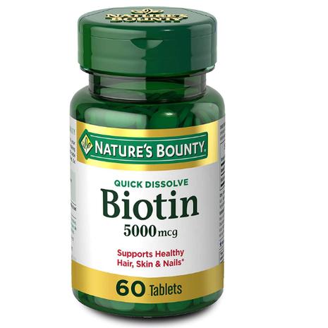 Nature's Bounty Biotin 5000 MCG - 60 Tabs